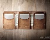 Trifold Wallet, Mens Trifold Wallet, Trifold Leather Wallet, Minimal Trifold Wallet, Trifold Card Wallet Extra 031