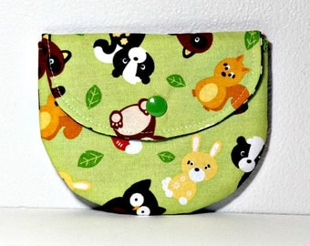 Woodland Baby Toss Pacifier Pouch, Pacifier Pouch, Pacifier Holder, Coin Purse, Small Wallet, Card Holder, Small Wallet, Binky Pouch