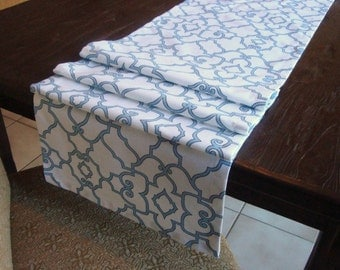 Modern Decorative Table Runner Covington Windsor Mariner Blue Runner15x80 Runner Unlined