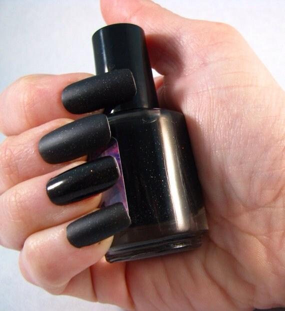 Terok Noir matte nail polish by Comet Vomit
