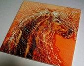 Horse Trivet  -  Autumn Sundance   -  Ceramic tile