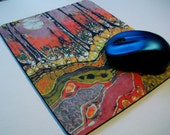 Mousepad 1 -Autumn  Moon  -  mousepad from original batik by Carol