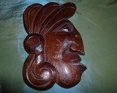 Native American Wooden Indian Head Wall Decoration