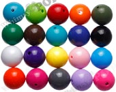 20mm - 100 PACK MIXED Color Gumball Beads, Bulk Gumball Beads, Wholesale Chunky Beads, Bubblegum Beads, Bubble Gum Bead, 20mm Bead, 2mm Hole