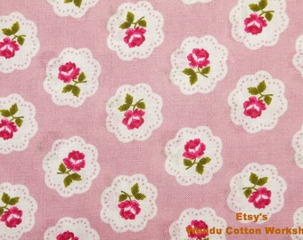 Rose in the Mirror with Pink - Cotton Fabric  - S1F2 - Fat Quarter