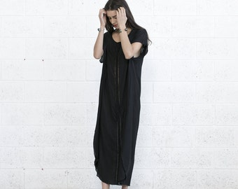 Summer Kaftan Dress, Black