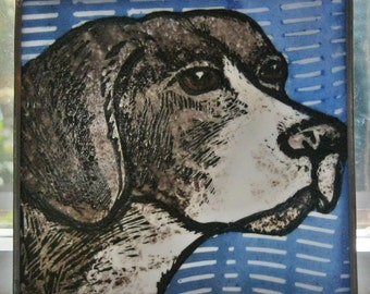 Stained Glass Dog Suncatcher  Pointer  JRN070
