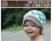 INSTANT DOWNLOAD - Crochet Pattern - Patchwork Newsboy - Crochet Hat Pattern