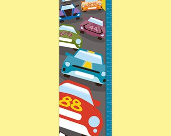 Personalized Race Car Growth Chart - Finish Line
