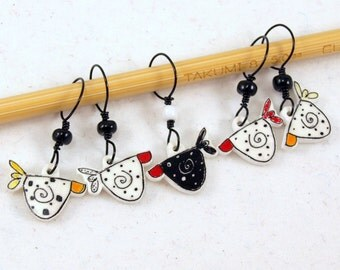 spring chickens!  whimsical non-snag stitch markers