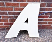 A - Reclaimed Metal letter - LED - 24 inch
