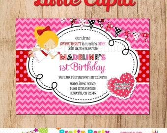 LITTLE CUPID invitation You Print - valentines or birthday