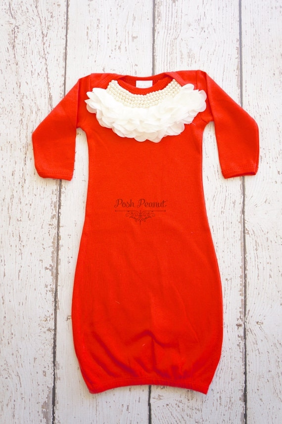 Newborn valentines baby girl outfit Newborn gown Infant