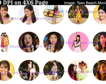 Buy ONE get FOUR FREE Mack and Lela 1 Inch Bottlecap Images 4x6 Sheet 15 Images Teen Beach Movie