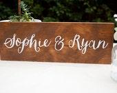 Custom wedding name sign