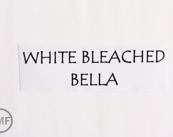 One Yard White Bleached Bella Cotton Solid Fabric from Moda, 9900 98