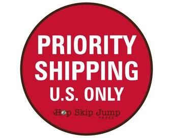 USPS Priority Shipping Upgrade - HopSkipJumpPaper
