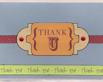 Unusual Little Thank U Card!
