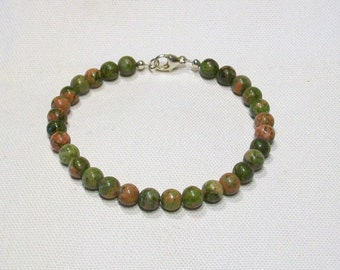 Unakite Natural Gemstone Bracelet