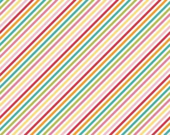 Fancy Free Stripe in Multi by Lori Whitlock for Riley Blake Designs