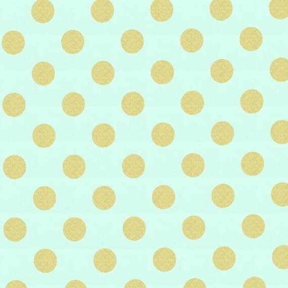 Fabric by the Yard- Glitz by Michael Miller in Mist Quarter Dot