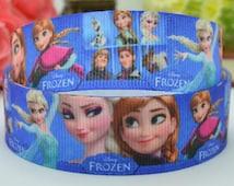 "50 yards 7/8"" Frozen ribbon frozen printed grosgrain ribbon frozen hairbow ribbon party decoration elsa ribbon anna ribbon olaf ribbon"