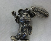 Rare Vintage Sterling Silver Mickey Mouse Charm with Tag