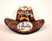 Cowboy Hat Dog I.D. Tag / Pet I.D. Tag