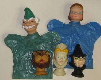 Vintage Wizard of Oz Hand Puppets Promotional Set from Proctor & Gamble