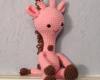Crocheted giraffe - stuffed animal - giraffe amigurumi - nursery decor