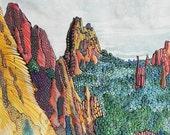 "Garden of the Gods 2, Colorado. Ceramic Tile, 8"" x 10"".  Free shipping in U.S."