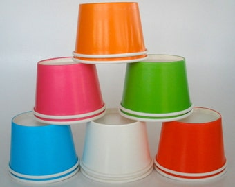 15 Paper Cups, 8 oz. Strong & Sturdy Ice Cream Cups Yogurt Cups Chili Cups Fruit Cups Candy Cups Paper Snack Cups Cold Cups Hot Cups