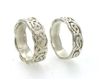 Celtic Ring Sterling Silver Ring Set
