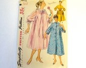 Vintage Sewing Pattern 1950s Misses Duster Negligee Housecoat Robe Size 14 Simplicity 4972