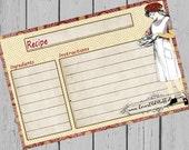 4x6 Recipe Card 3x5  Printable Recipe Card 3.5x5 Child's Recipe Card