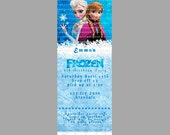 Disney Frozen Birthday Invitation Ticket