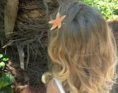 Sugar Starfish Hair Pin, Nautical Wedding Hair Accessories