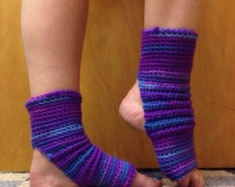 Yoga Socks in Grape Fizz Purple -- for Dance, Yoga, Pedicures, Pilates.