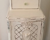 LAYAWAY For Cindy ... Romantic Antique French Shabby Chic Nightstand Jewelry Armoire Once in a Lifetime Piece