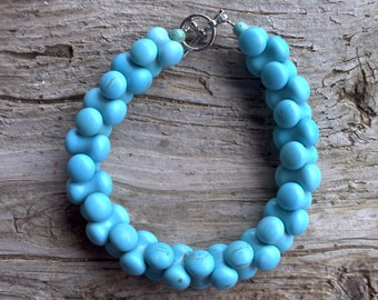 Chalk turquoise bracelet 8 1/4 inch