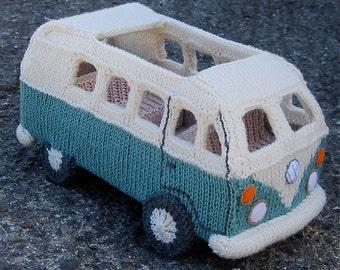 PDF Knitting Pattern for a Campervan based on the VW Splitscreen / Kombi