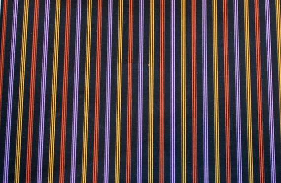 "Halloween Fabric,Striped Fabric,100% Cotton Fabric,Quilt Fabric,Apparel Fabric,Craft Fabric,END OF BOLT 11.5"" x 44"" Wide"