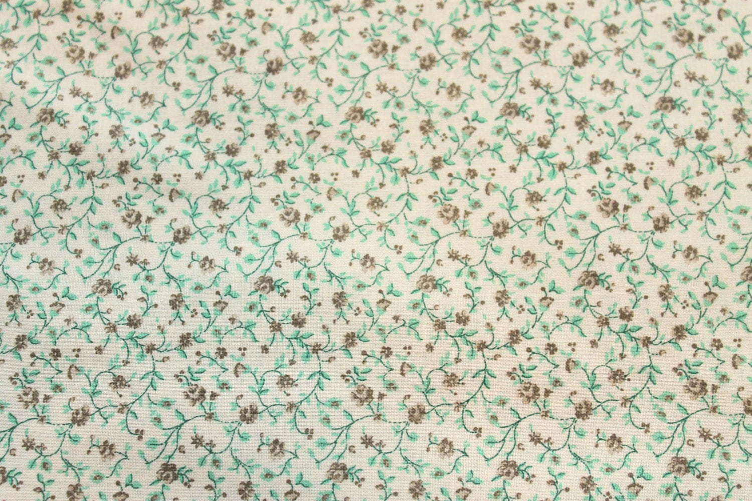 Calico cotton fabric spearmint on by jacobandchloesllc on etsy for Fabric by the yard near me