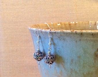 Bali Bead Dangle Earrings
