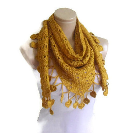 valentines day gift, Fashion scarf, unique gift, knit scarf, For you, saffran scarf