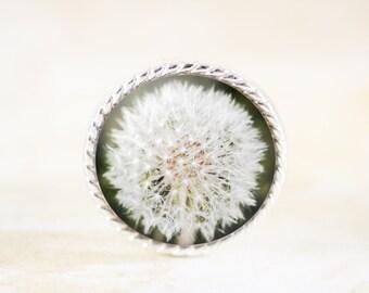 Silver Dandelion Brooch - Dandelion Seed Pin, Nature Jewelry, Silver Flower Brooch, Botanical Jewelry, Make a Wish Jewelry