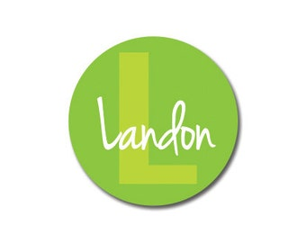 Monogram Labels - Dishwasher Safe Labels - 99 Medium Round Custom Stickers