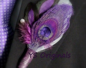 The Purple Charmer boutonniere