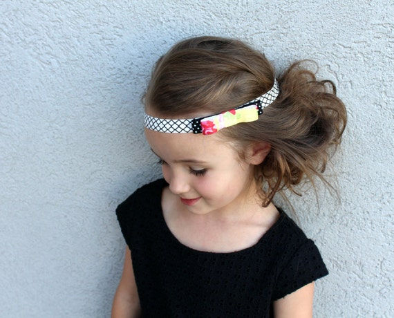 New Mixed Print Delicate Bow Headband - Newborn headband, baby headband, toddler, child, women, spring Summer, neon