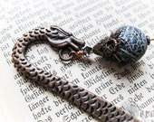 The Viking Dragon Bookmark for Bibliophiles in Copper Plate. Choose Wand or Egg. Game of Thrones